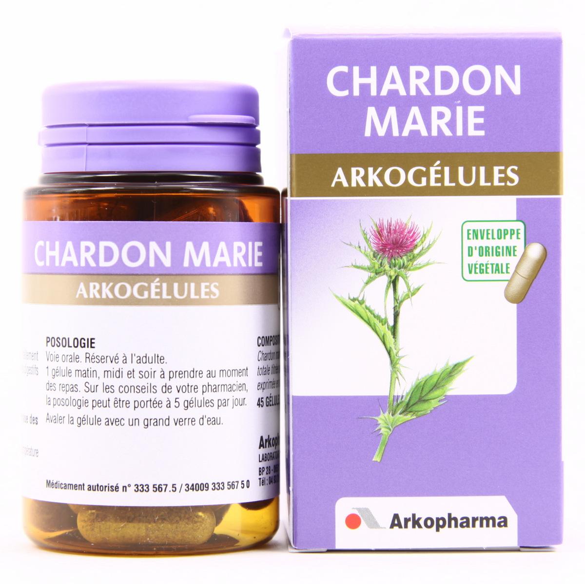 arkogelules chardon marie