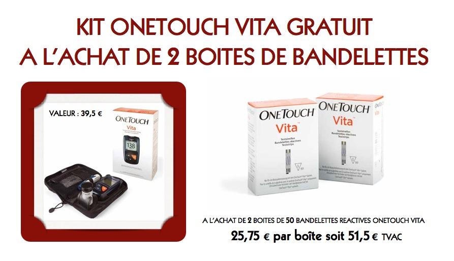 bandelettes reactives onetouch vita