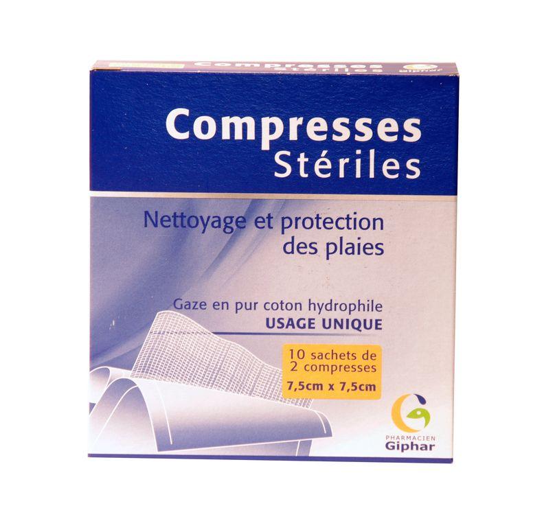 compresses steriles