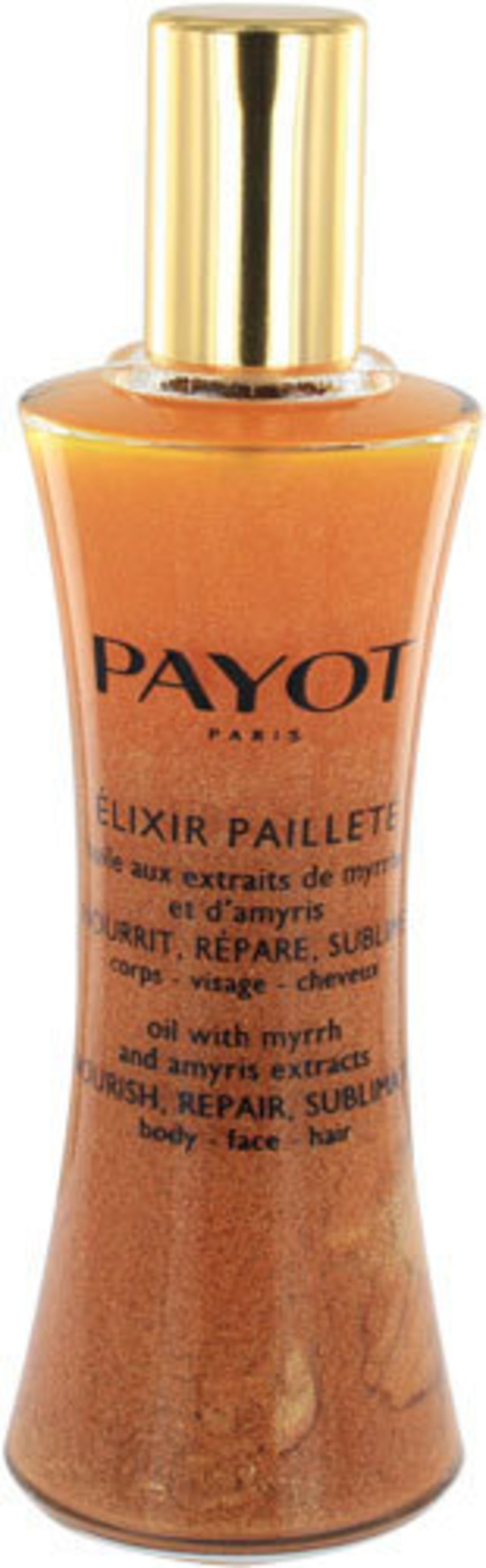 huile pailletee payot