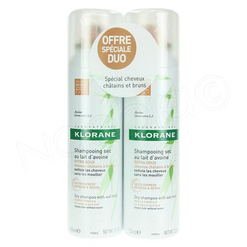 shampoing sec klorane prix