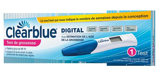 test clearblue digital prix