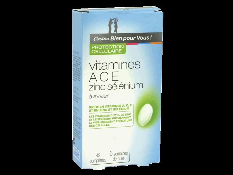 vitamine ace selenium zinc
