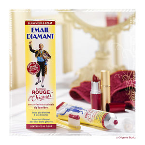 dentifrice email diamant rouge