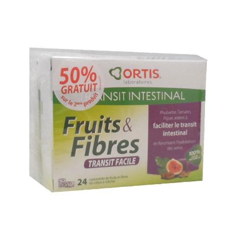ortis fruits et fibres 24 cubes